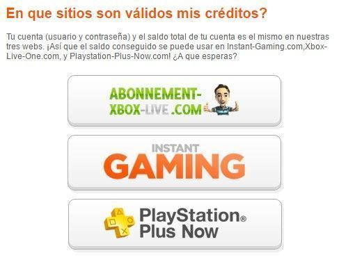 instant gaming canjear creditos